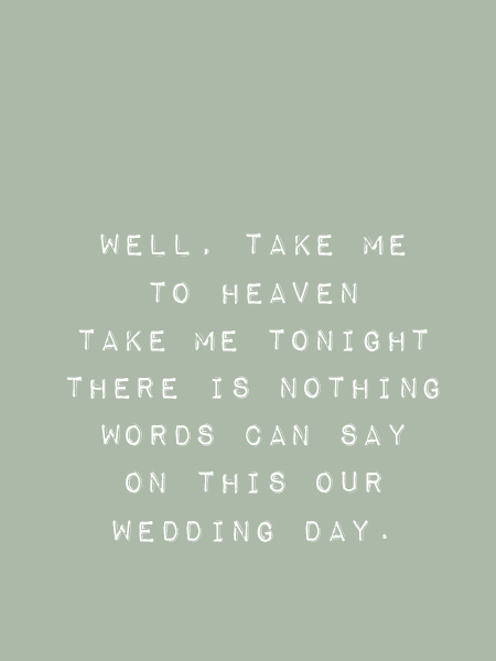 Songtekst Beegees wedding