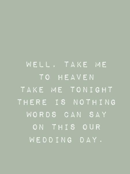 Songtekst Beegees wedding